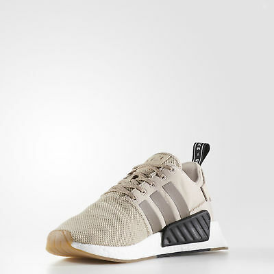 09bfe2d9068d8 Adidas Originals Nmd R2 Low Running Sneakers Men Shoes Khaki By9916 Size 9  New