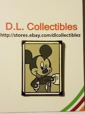 Disney Black and White Portrait Frame Mickey Mouse Pin