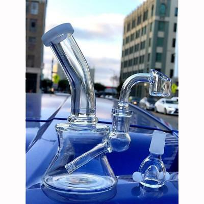Hookah Water Pipe Glass 6 inch Incline Rig Smoking Pipe Bong Tobacco Glassware