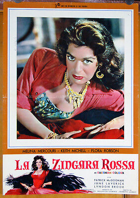 orig. Italian movie poster film THE GYPSY AND THE GENTLEMAN Melina Mercouri 1958