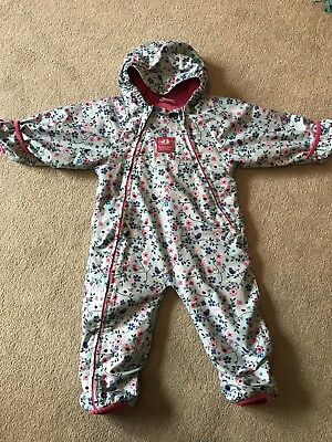 Jojo Maman Bebe girls all in one snowsuit age 12-18 Months