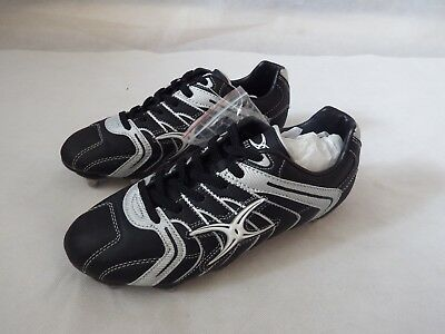 Gilbert Mercury 8 Stud Black / Silver Rugby Boots  - size UK8 Low Cut