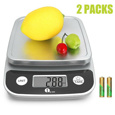 2 X Kitchen Scale Digital Postal LCD Electronic Weight Scales Food Shop 5kg/1g