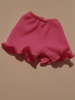 Fashionista Curvy Barbie Doll Pink Pair Of Cotton Knit  Shorts