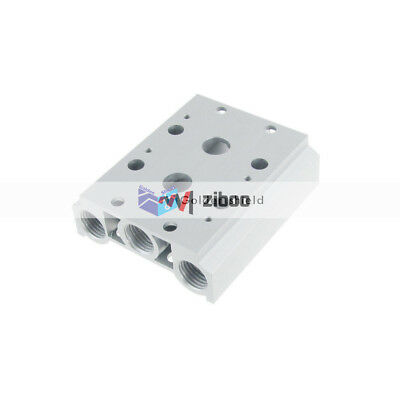 200M-2F Aluminum 2 Rows Stations Manifold Solenoid Air Pilot Valve Base