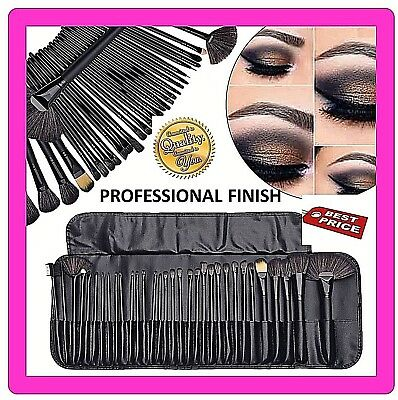 Professional 32 PCS Black  Kabuki Make Up Brushes Set Foundation Makeup ⭐UKSTOCK