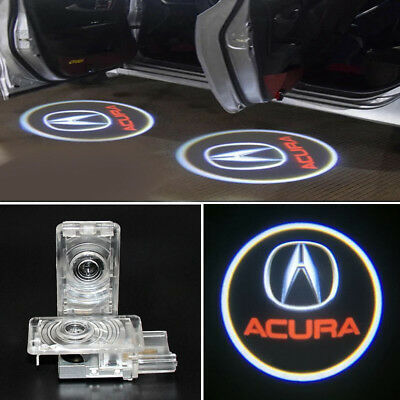 2pcs LED Car Door Welcome Lights For ACURA Logo Ghost Shadow Projector Courtesy