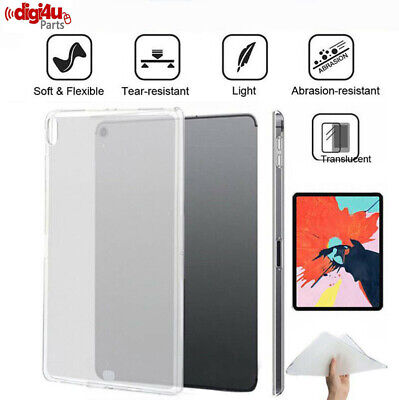 """For 2018 Apple iPad Pro 11"""" 12.9"""" 10.5"""" Clear Ultra-thin TPU Silicone Cover Case"""
