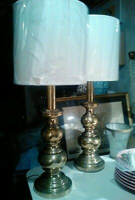 Pair of vintage Stiffel Brass 26 inch table lamps