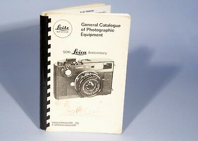Leica Leitz General Catalogue of Photographic Equipment, 50th Anniversary Jan 74