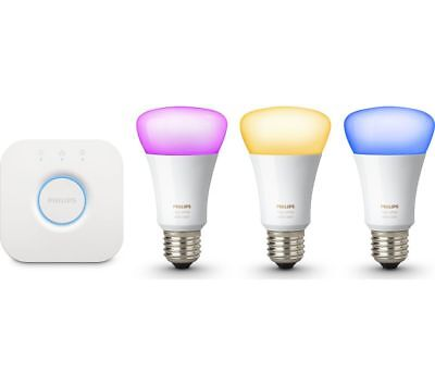 Philips Hue Richer Colours E27 ES White Colour Ambience Wireless LED Starter Kit