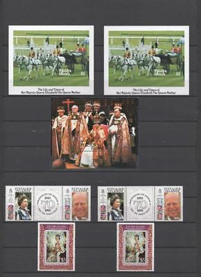 Pitcairn Island Qe2 Royalty Mini Sheets/stamps On 4 Pages Mnh