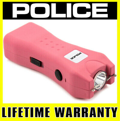 POLICE 618 PINK 140 BV Mini Stun Gun Rechargeable With LED Flashlight