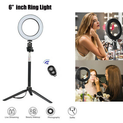 "6"" LED Ring Light with Stand Lighting Kit camera light for Youtube Live Makeup"