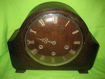 SMITHS LARGE  WESTMINSTER CHIMING MANTLE CLOCK  Spares or Repairs