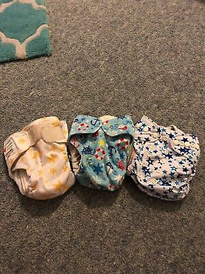 3 X Cloth Nappies, Baby Bear And Issy Bear