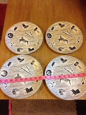 "4 X Vintage Ridgway Homemaker 9"" Dinner Plate 23cm nice condition"