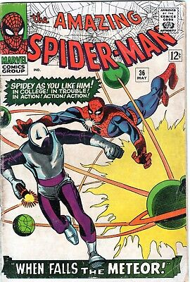 The Amazing Spider-Man #36 1st Looter Appearance! Silver Age Marvel Comics 1966