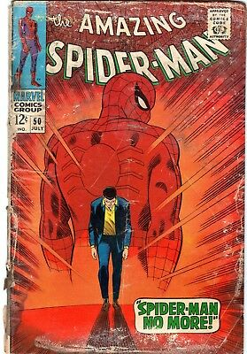 The Amazing Spider-Man #50 1st Kingpin App! Silver Age Marvel Comics 1967