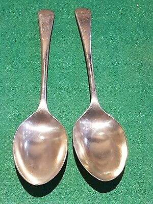 Cutlery - Two Nickel Plated Silver Table Spoons - [p789]