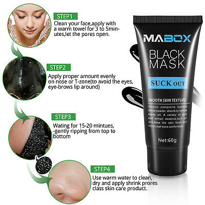 MABOX Bamboo charcoal Black Mask Deep CleansingBlackhead Removal Peel Off Gift