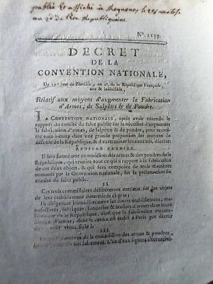 Décret de l'assemble nationale 1792-4 Pages