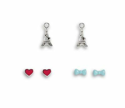 American Girl Doll's Grace Thomas Earrings for Dolls 3 Pairs 2 Studs 1 Dangle