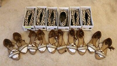 Wholesale Joblot Ladies Flat Party Casual Festival Shoes 11 Pairs 2 Styles