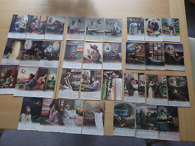 WW1 Bamforth Song Cards 11 different sets unposted postcards