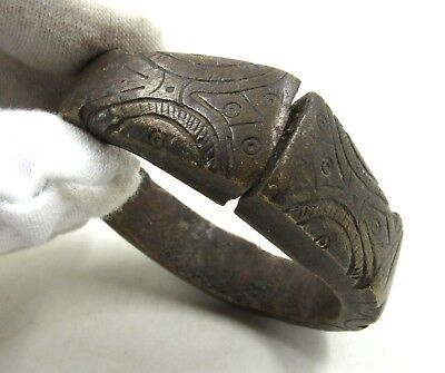 Authentic Ancient Bronze Age Decorated Bracelet  - H354