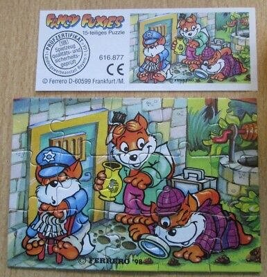 Ü Ei Puzzle 1998 Fancy Fuxies - unten links + Beipackzettel