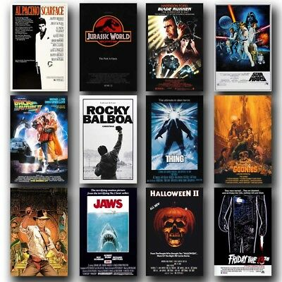 Styles Of 80's Classic Movies 24x36inch Silk Poster Art Print Door Wall Decor