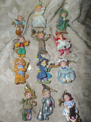 Ashton Drake Ornaments THE WIZARD OF OZ STORYBOOK Heirloom Set Of 12 New in Box