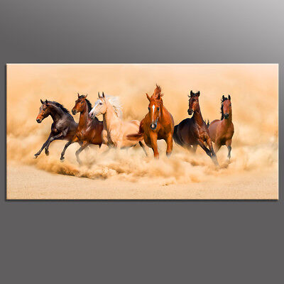 Modern Canvas Print Oil Painting Running Horses Picture Wall Art Decor Poster