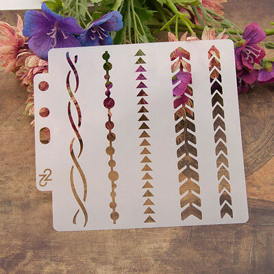Reusable arrow Stencil Airbrush Art DIY Home Decor Scrapbooking Album Craft Ff