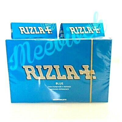 Original 600 Rizla Blue Rolling Papers Made In Belgium 12 Booklets X 50 Leaves
