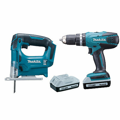 MAKITA G-SERIES CORDLESS 18V 2X 1.5Ah COMBI DRILL & JIGSAW WITH CHARGER *NEW*
