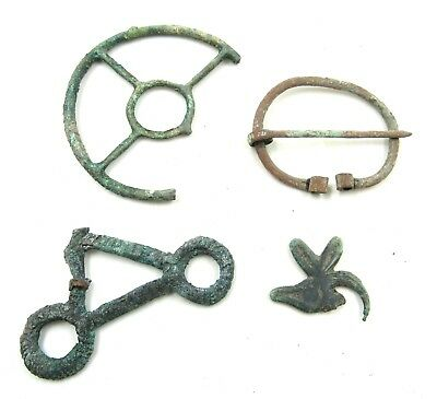 Authentic Lot Of Ancient To Medieval Bronze Items  - H386