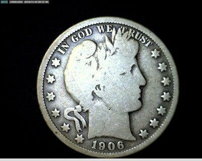 1906 O  Silver Barber Half Dollar Circulated   # LT614