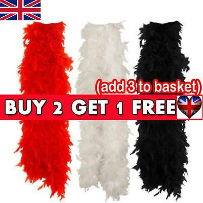 2M Feather Boa Strip Fluffy Craft Costume Fancy Dress Wedding Party Hen Night D