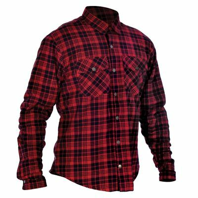 Oxford Kickback Hidden Structure Stiching  shirt Red & Black