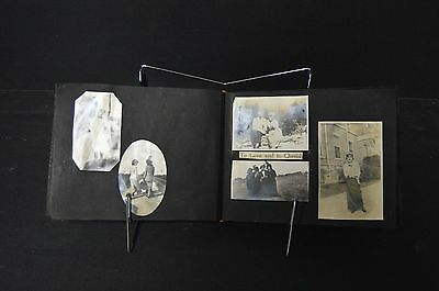 Amazing WWI Era Antique Photograph Album/Scrapbook Harley Davidson/Navy/Ships