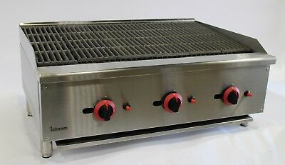 New Infernus US Style Gas Char Grill 3 Burner Lava Rock Grill Catering 90cm