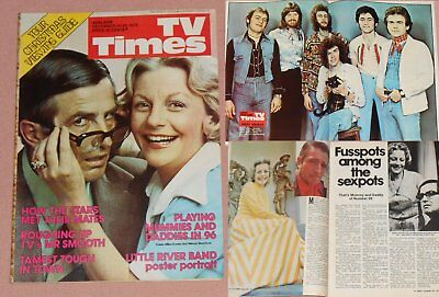 TV TIMES 1975 - NUMBER 96/Mike Dorsey Wendy Blacklock LITTLE RIVER BAND Poster