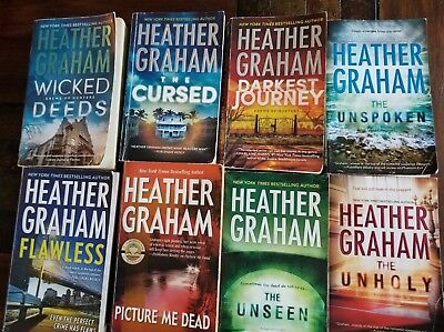 Lot of 8 Heather Graham Paperback Books Includes Krewe of Hunters Series