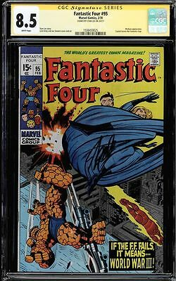 Fantastic Four #95 Cgc 8.5 White Pages Ss Stan Lee Medusa App Cgc #1508459025