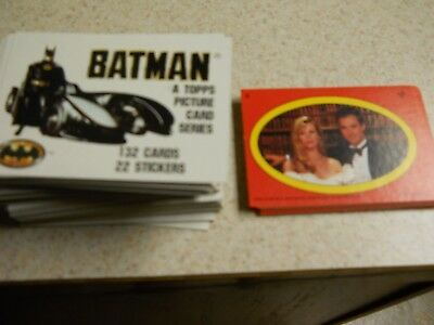 1989 Topps Batman trading cards Series 1 complete