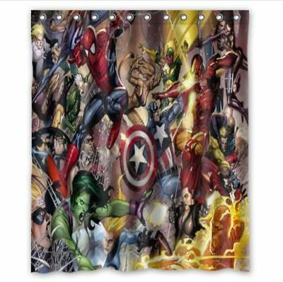 New Marvel Comics Shower Curtain Size 60x72 Inch One Side