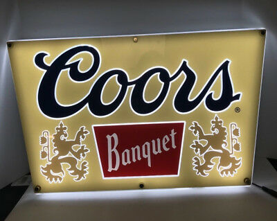 Coors Banquet LED Airgap Beer Sign