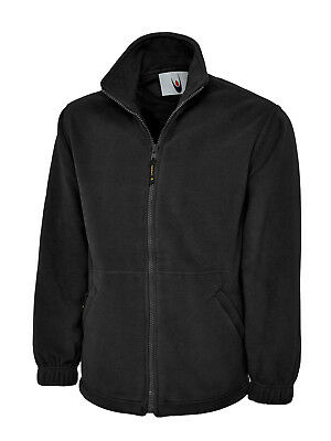 Mens Premium Black Fleece Jacket Size XS to 6XL Plus  Zip-Up  New UK Stock